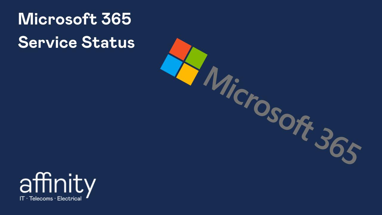 Check Microsoft 365's service status logo