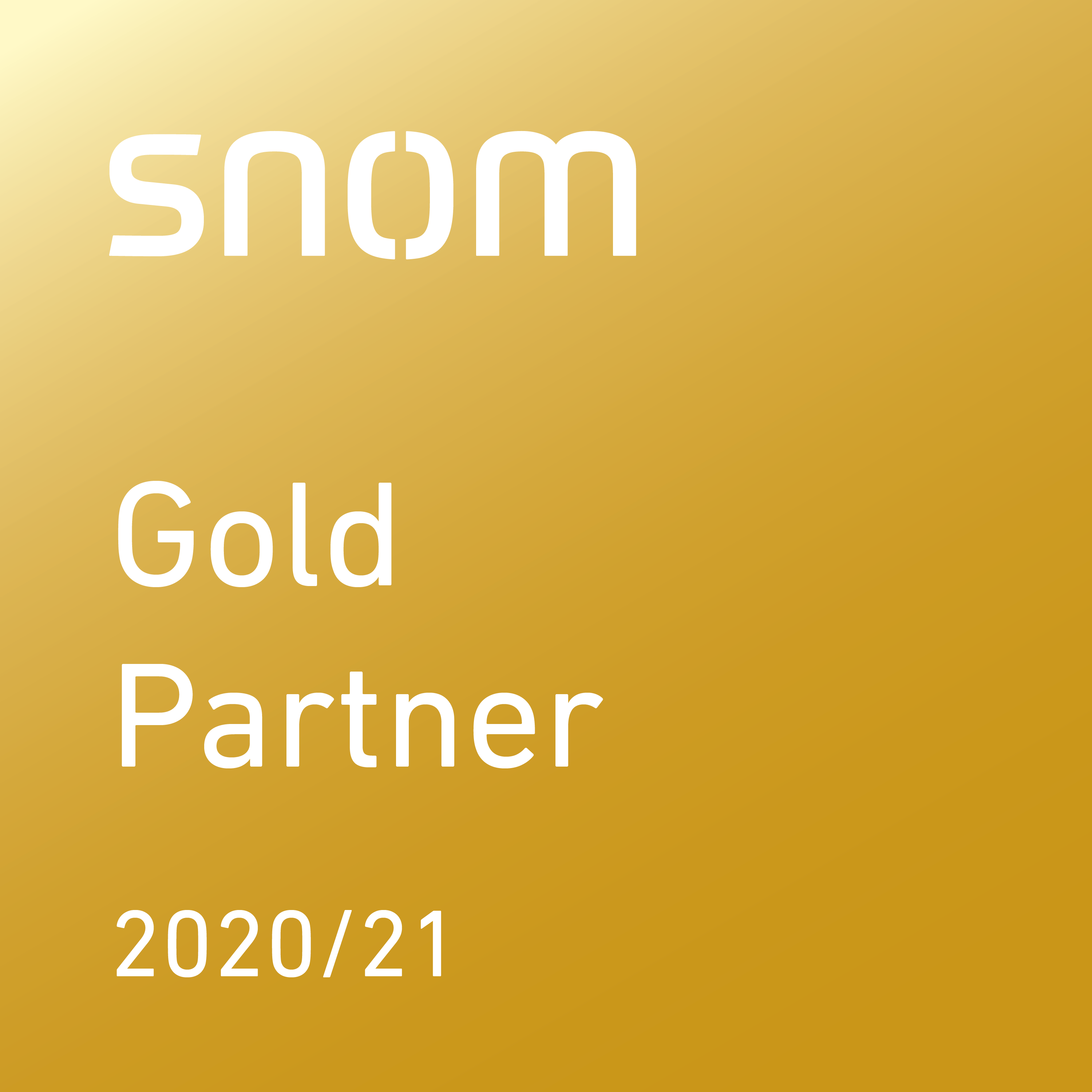 Snom Gold Partner logo
